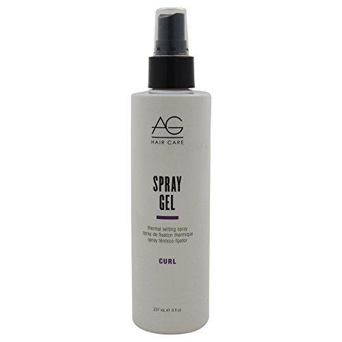 AG Hair Curl Spray Gel Thermal Setting Spray 8 fl. oz.