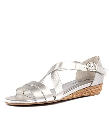 CANDES Silver Flat GAMINS Sandals Leather Sandals Summer Womens HnqYdxwY8