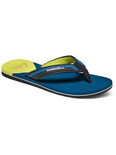 Quiksilver Molokai Layback M Sndl, Sandalias con Plataforma Plana para Hombre Bleu - Blue/Yellow/Blue