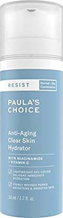 Paula's Choice Resist Crema Hidratante Facial Antiedad - Crema de Noche Antiarrugas y Reduce Puntos Negros & Despigmentante Manchas - con Niacinamida & Vitamina C - Pieles Mixtas a Grasas - 50 ml