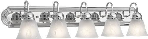 Kichler 5339CH Bath 5-Light, Chrome (Light Fixture Five Chrome Bath)