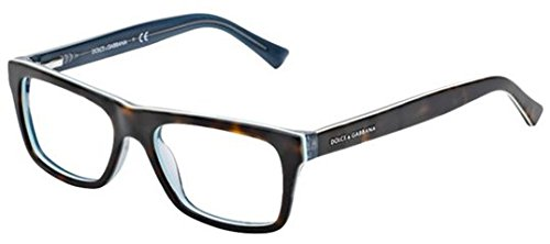 Dolce&Gabbana URBAN DG3205 Eyeglass Frames 2867-47 - Top Havana On Petroleum DG3205-2867-47