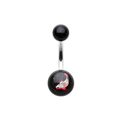 (Koi Fish Acrylic Logo Belly Button)