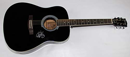 Green Day Dookie Basket Case Billie Joe Armstrong Signed Autographed Full Size Black Acoustic Guitar Loa