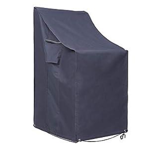 SONGMICS 600D Oxford Copertura per Sedie Impilate, Protezione Impermeabile Antivento e Anti-UV per Sedie da Giardino, GFC95G 5 spesavip
