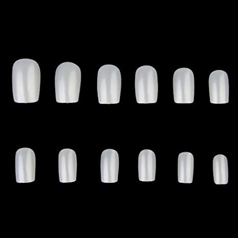 600 X Uñas Falsas Postizas Europeo Natural Manicura 12 Medidas: Amazon.es: Belleza