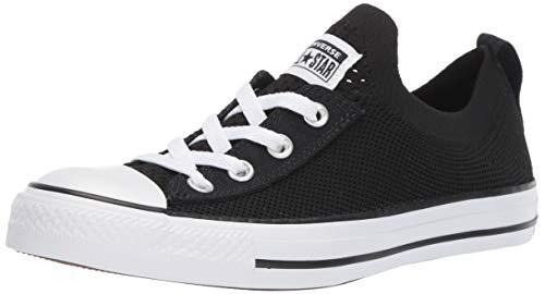 Converse Women's Chuck Taylor All Star Shoreline Knit Slip On Sneaker White/Black, 10.5 M US