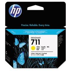 HP CZ136A HP711 Ink Cartridge, 29 ml, 3/PK, Yellow