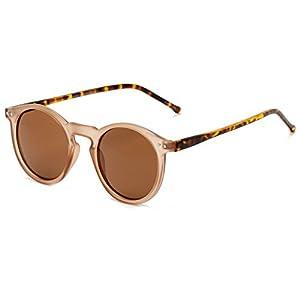 Sunglass Warehouse   The Lincoln Sunglasses - Round - Plastic Frame - Men & Women