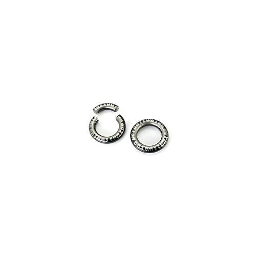 Painful Pleasures 10g - 4g Stainless Steel Segment Ring Black Titanium Coated with Flaming Laser - UR162-3mm ~ 8g - 13mm ~ 1/2