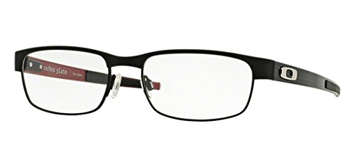 Oakley Carbon Plate OX5079-0153 Eyeglasses Matte Black Clear Demo 53 18 (Oakleys Aus China)