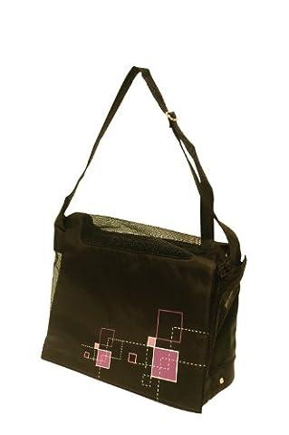 Dogit Style Nylon Messenger Bag, Argyle Black - Argyle Purse