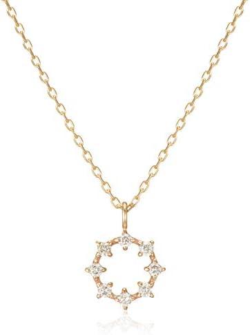 ダイヤモンド リングデザインネックレス K10 TDA2622J_-31