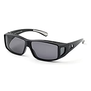 Mr.O Polarized Sunglasses for Prescription Glasses Wearers - Premium Optics, Superlight Frame, Perfect for Driving (Charcoal, Neutral grey)