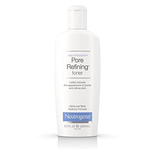 Pore Toner Refining (Neutrogena Pore Refining Toner with Witch Hazel, Alpha Hydroxy Acid & Beta Hydroxy Acid, Oil-Free & Hypoallergenic Facial Pore Cleansing Toner, 8.5 fl. oz)