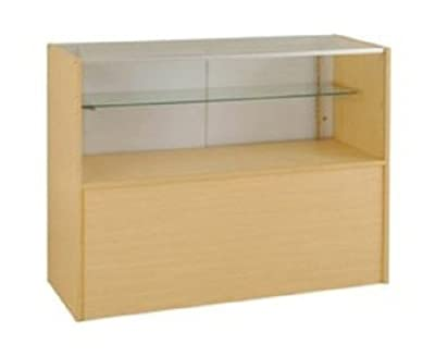 Half Vision Showcase, 48 Inches Wide Maple Color By Modern Store Fixtures
