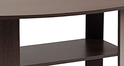 FURINNO 11179GYW/BK Simple Design Coffee Table