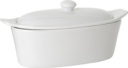 Trudeau 09607081A Porcelain Butter Boat, White ()