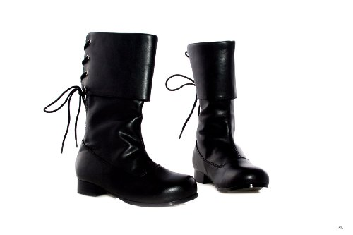 """Ellie Shoes 1"""" Heel Pirate Ankle Boot Children's. Black"""
