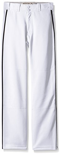 Easton Boys Mako II Piped Pants, White/Black, X-Large