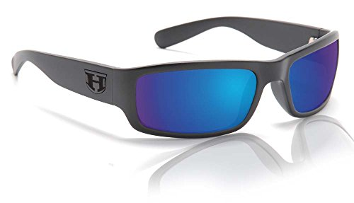 Hoven Highway Sunglasses, Black on Black/Tahoe Blue Polarized, One - The Sunglasses One Hoven