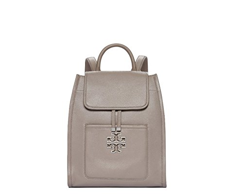 Tory Burch Britten Leather Backpack - French Grey