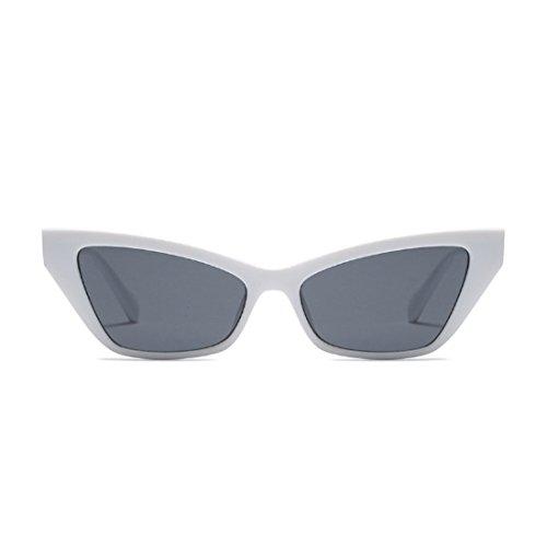 vintage Blanco de Gris estilo marco Gafas de sol Gafas de sol retro pequeño sol Aiweijia de Gafas de elegantes xwOqF1U1aB