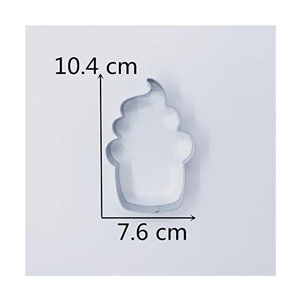 KENIAO Cupcake Formine per Biscotti Gelato Stampi Biscotti - 7,6 x 10,4 cm - Acciaio Inossidabile 4 spesavip
