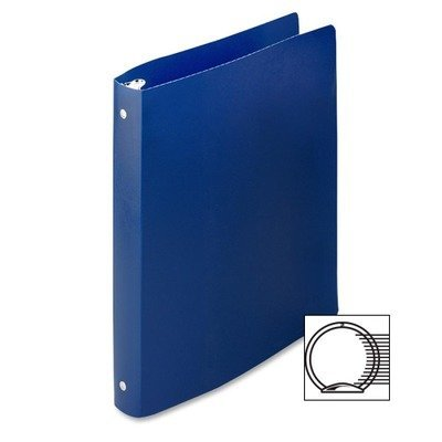 ACCO BRANDS ACCOHIDE Poly Ring Binder with 35-Pt. Cover, 1quot; Capacity, Dark Royal Blue (39712)
