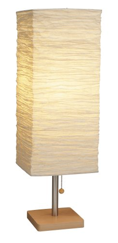 Adesso 8021-12 Dune Table Lamp – Wood Base Desk Lamp – Lighting Fixture for Living Room, Bedroom. Home Decor Item