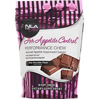 NLA For Her Appetite Control Performance Chew, Rich Chocolate, 30 Count