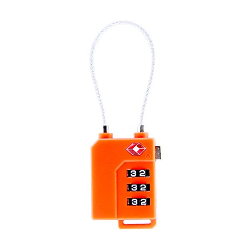 Defcon Cl Combination Lock (1/2Pk Metal Travel Luggage 3Digit Resettable Combination Lock 3-ft Steel Cable)