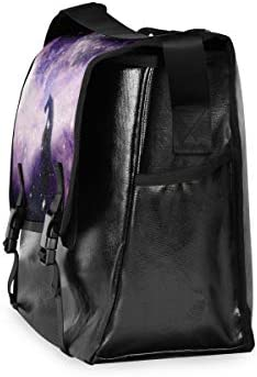メッセンジャーバッグ メンズ 銀河 星空 馬 パープル 斜めがけ 肩掛け カバン 大きめ キャンバス アウトドア 大容量 軽い おしゃれ