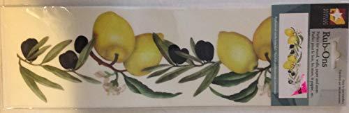 (American Traditional Designs - Lemons & Olives Rub Ons Sheet RO-013)