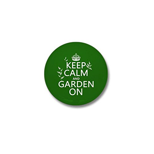 CafePress - Keep Calm and Garden On Mini Button - 1