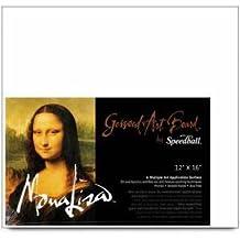 Speedball Mona Lisa 8-Inch-by-10-Inch Gessoed Art Board by Speedball