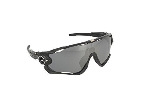 Oakley Men's Jawbreaker OO9290-07 Shield Sunglasses, Polished Black, 131 - Oakley Cycling Sunglasses
