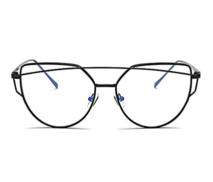 46b164984 Simple Cat Eye Glasses Black Big Frame Clear Lens Eyewear Medical Glasses  for Women