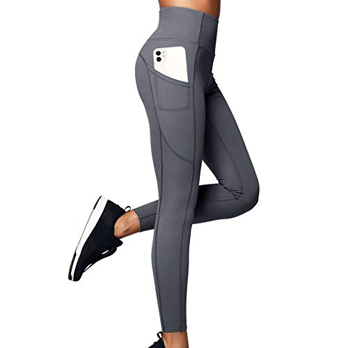 MALENO Women High Waisted Yoga Leggings with Pockets Tummy Control Non See-Through Buttery Soft Workout Pants