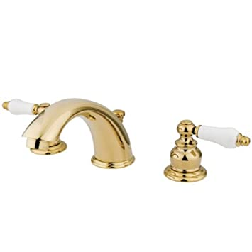 Delightful Kingston Brass KB972B Victorian Widespread Lavatory Faucet With Oak .
