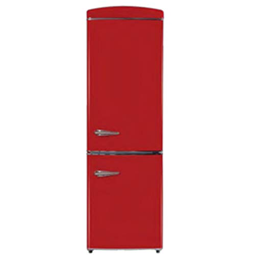 Equator-Ascoli 10.8 cu.ft. Energy Star Bottom Freezer Retro Refrigerator; Red