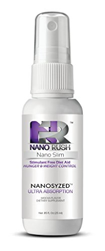 Rush de nano Nano estimulante Slim dieta libre ayuda hambre y Control de peso con nanotecnología 1 Oz Mocha sabor Spray abastecimiento de 30 dias