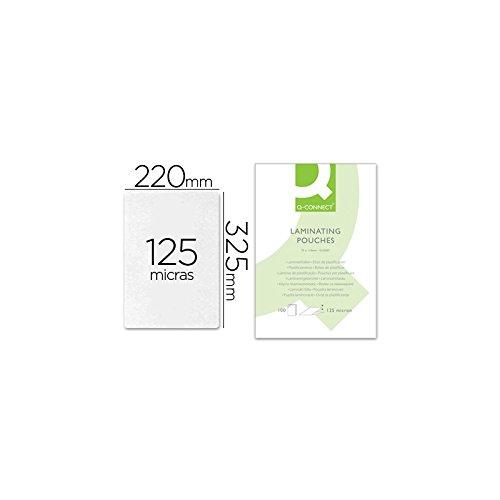 Q-Connect Bolsa De Plastificar 325 X 220 Mm 125Mc De Folio Caja De 125Mc 100 Unidades 03f88d