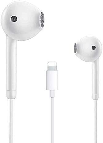 Lighting Connector Earbuds Earphone Wired Headphones Headset with Mic and Volume Control,Compatible with Apple iPhone 11 Pro Max/Xs Max/XR/X/7/8/8 Plus and Play Carpet & Vinyl