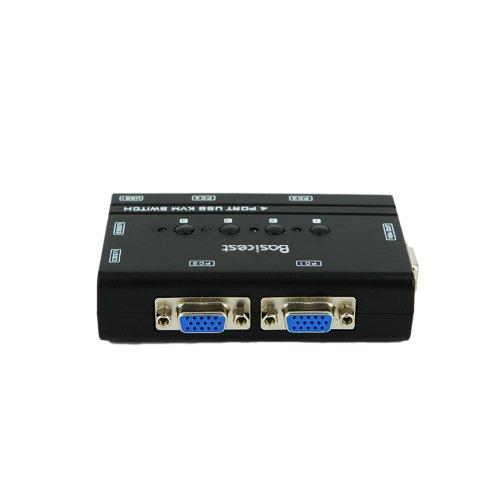 Basicest® BAS2151 Freedom 4 Ports Electronic VGA Switch Box KVM Switch Manual USB KVM by Basicest (Image #1)'