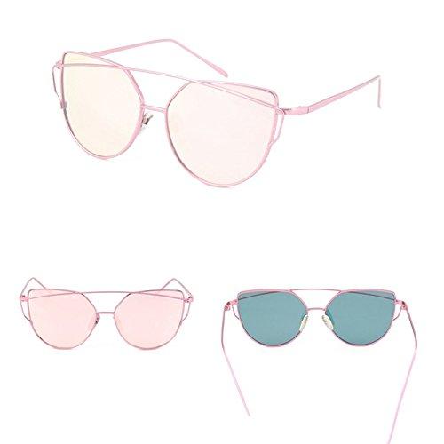 Reflectante La De Mujer El Lente Oro Espejo La Gafas Oculos Metal En Rosa Gafas Sol Gato Hembra De De Vendimia Gafas De Para De PINK W De De TIANLIANG04 PINK Ojo Gery La De Plana Oro W xzwqZUZRa