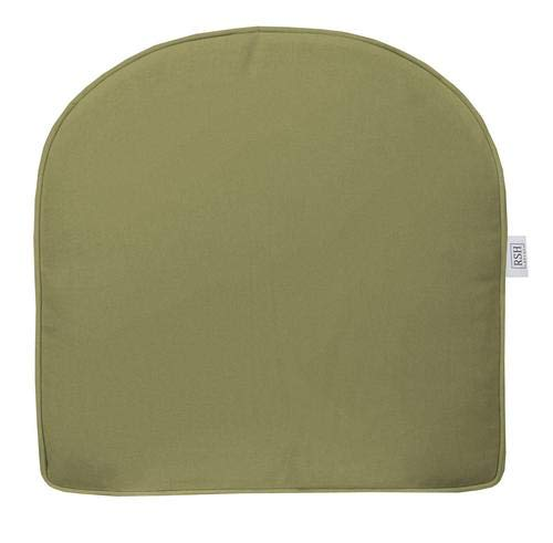 (RSH Décor Indoor ~ Outdoor Outdura Solid Olive Foam Single U-Shape Cushion)