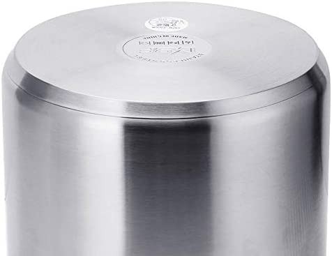 QXX Acier Inoxydable 304 marmite à Soupe Double Oreille marmite cuisinière en Acier Inoxydable 20 Baril à Soupe (Taille : 22cm)