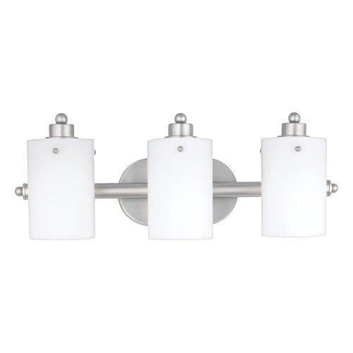 Quoizel AN8540ES Adano 7.5-Inch x 21-Inch 3 Light Bath Fixture, Empire (Adano 1 Light Bath)