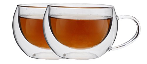 Maxxo Double Wall Insulated Thermo Cappucino/Tea Glass, Set of 2 (10oz/300ml) by MAXXO (Image #1)